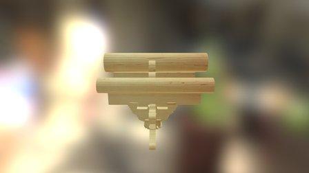 五踩平身科斗拱 3D Model
