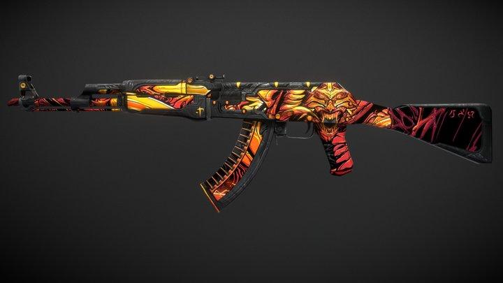 AK-47 | Demon 3D Model