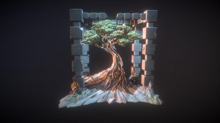 World Tree - Evening 3D Model