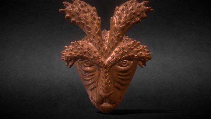 Deer God Mask Simple + Wooden Version 3D Model