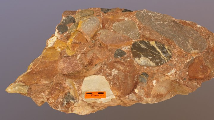 North Horn Conglomerate 02 3D Model