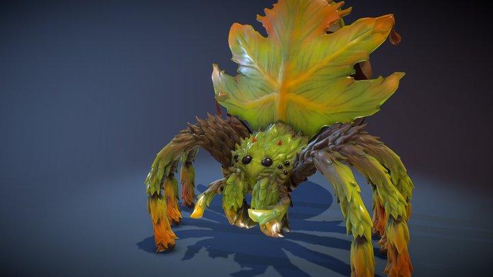 Maple Leaf Spider - Animated 3D Model