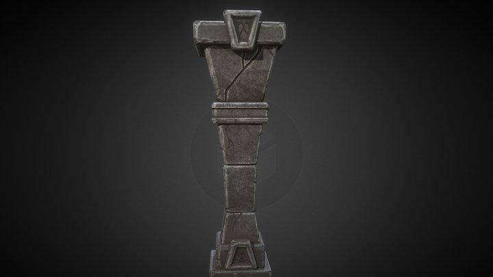 Stylized Pillar 3D Model