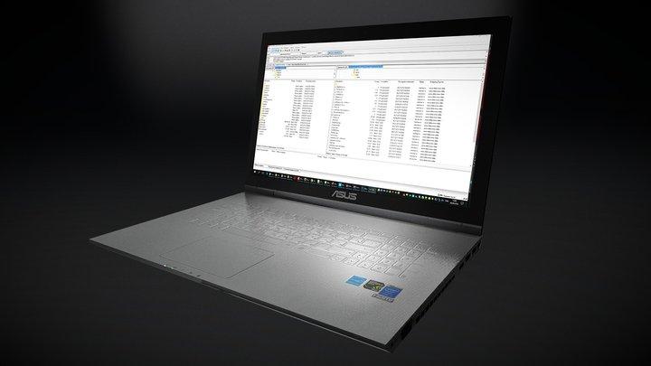 Asus NoteBook 3D Model