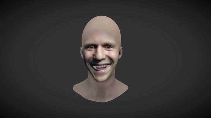 Jason Statham - Facesoft Reproduced 3d Model 3D Model