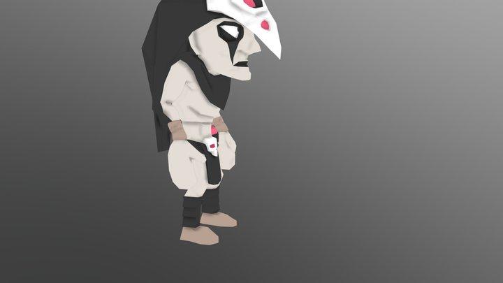 Crow - Throwing stuff 3D Model