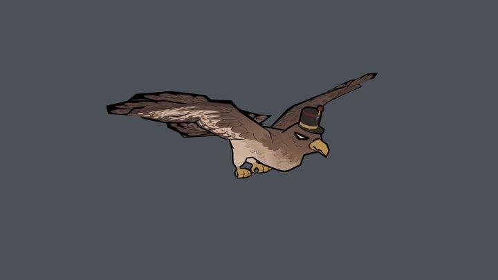 Game Jam Hawk 3D Model