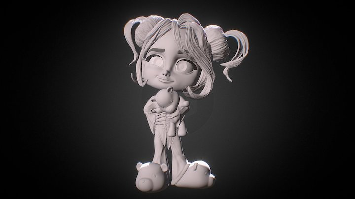 Character Kid LITTLE MARY (Shaded) 3D Model