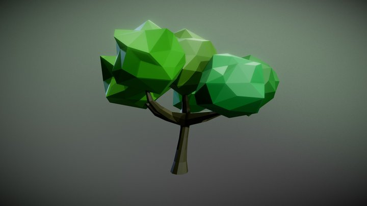 Giant Low Poly Tree 3D Model