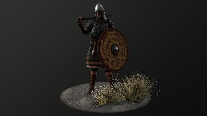 Late Viking Age Warrior⚔️ 3D Model
