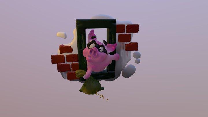 The piggy robber 3D Model