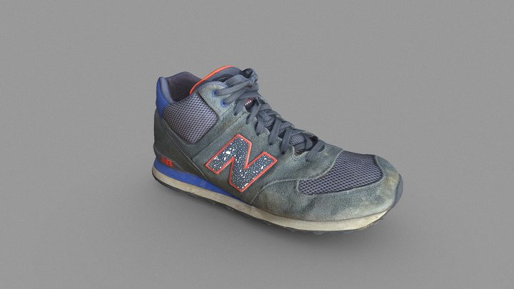 Dirty Old Sneaker 3D Model