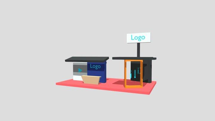 Modelo Stand Empresarial (2) Expo Virtual CDI 3D Model