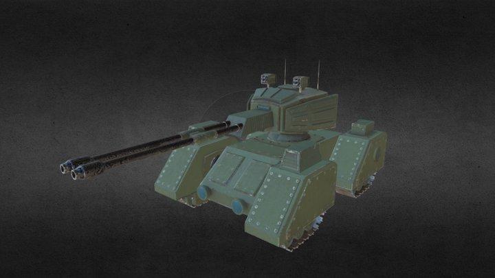 Tank Green 3D Model