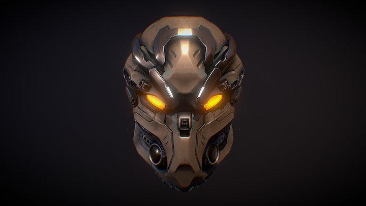 Robo Head AO 3D Model