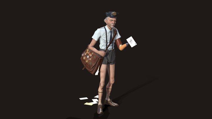 Postman 3D Model