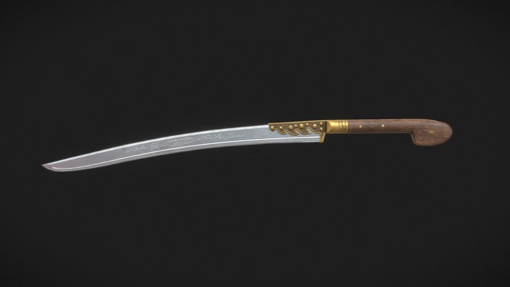 Yatagan Sword (Ottoman) 3D Model