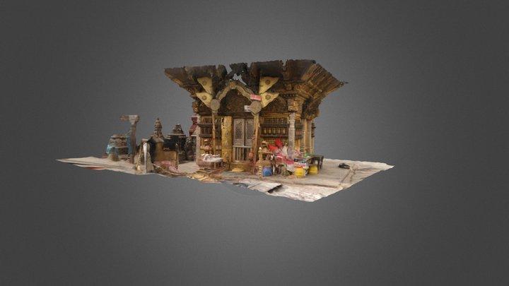 Temple at Swayambhunath 3D Model