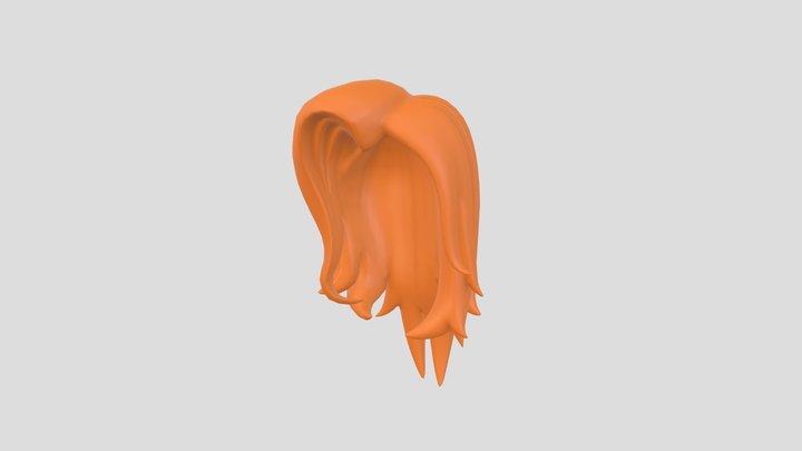 Girl Hair001 3D Model