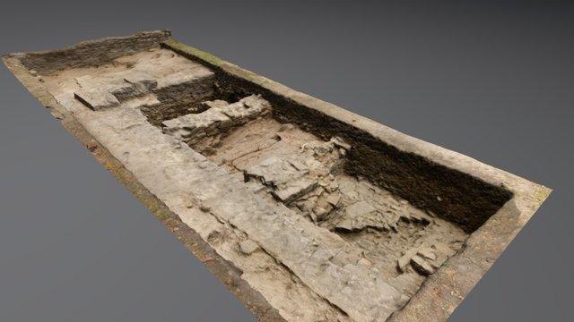 Restos Cimentación Santa María De Rioseco_Burgos 3D Model