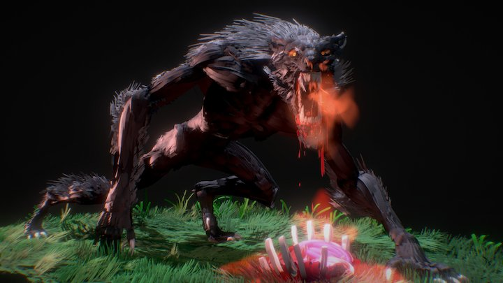 Werewolf - Tilt Brush 3D Model