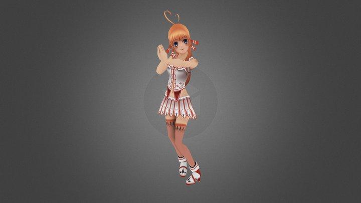 Orange Girl 3D Model