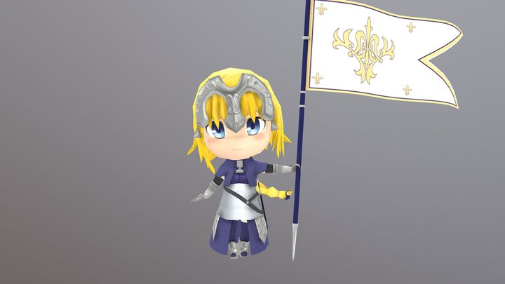 jeanne Poes 3 3D Model