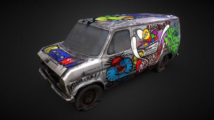 Texturing Challenge - Graffiti Van 3D Model