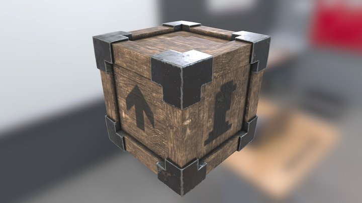Wooden Crate - Game Ready 3D Model