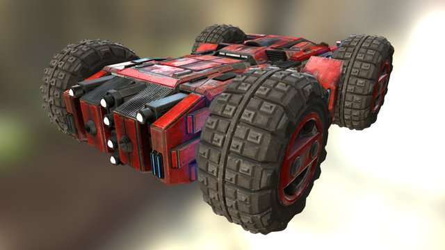GRIP Tank Class Racer 3D Model