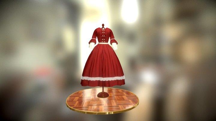 Victorian Dress 3D Model
