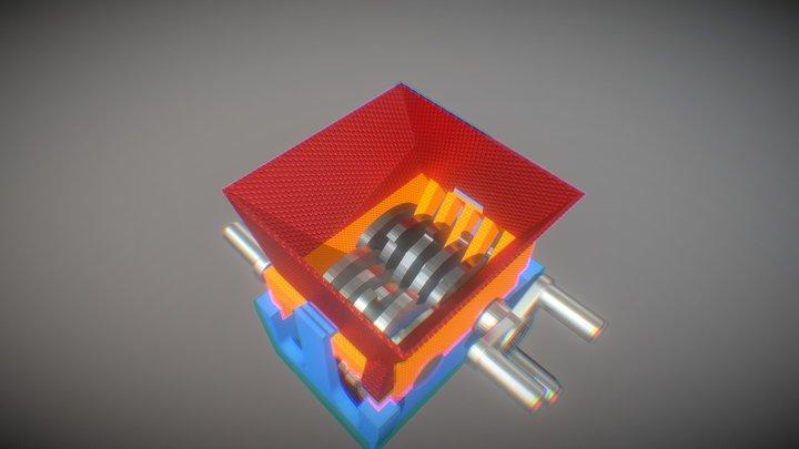 Shredder PBR Game Ready 3D Model