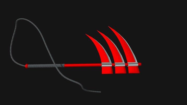 Hidan Foice de Lâmina Tripla/Triple Blade Scythe 3D Model