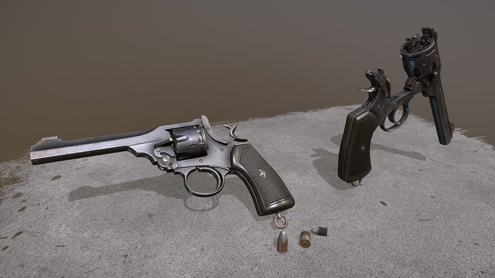Webley MkVI Revolver 3D Model