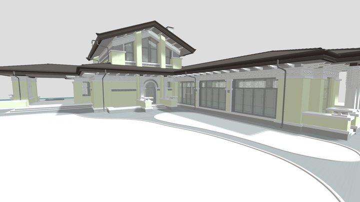 Гостевой дом с бассейном. 3D Model