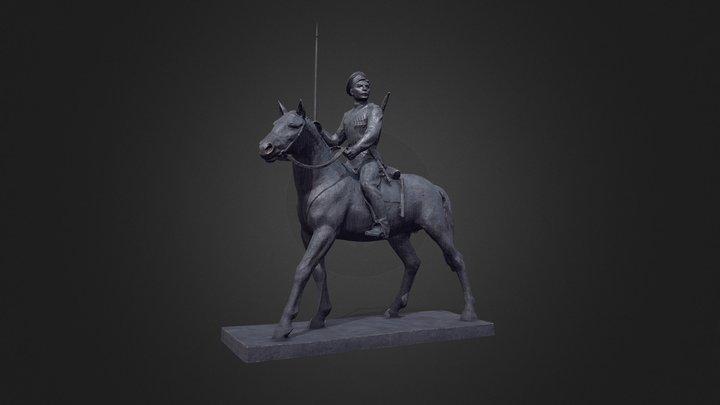 Sholokhov_monument 3D Model