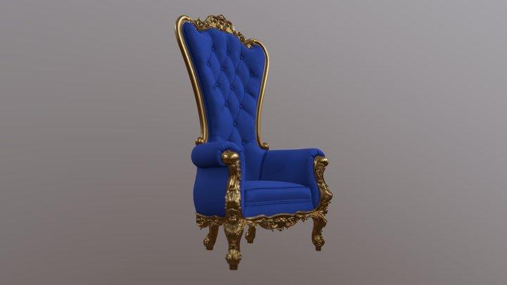 King chair 3D Model