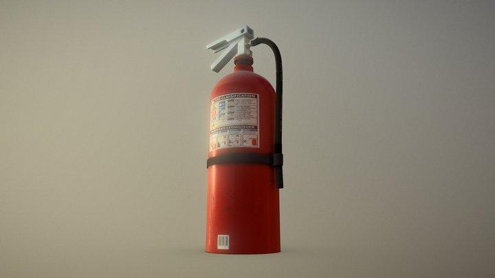 Dusty Fire Extinguisher 3D Model