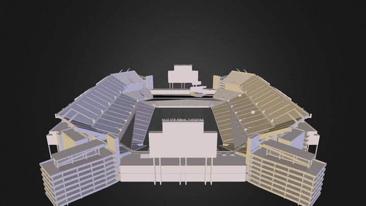 R J Stadium 3D Model