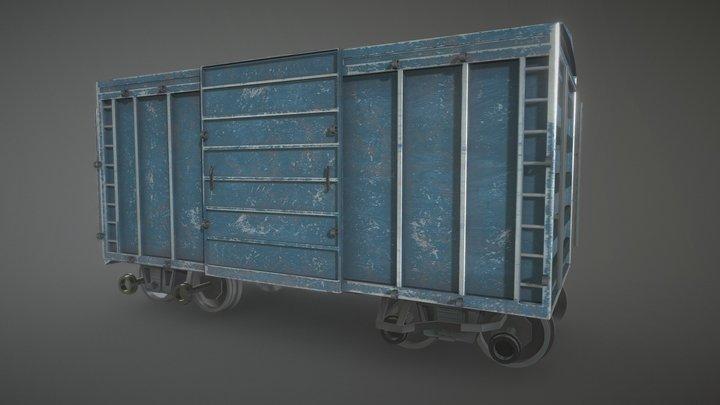 Railroad Car 3D Model