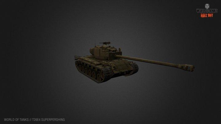 T26E4 SuperPershing - World of Tanks 3D Model
