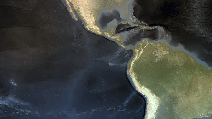 Spherical World Map 3D Model