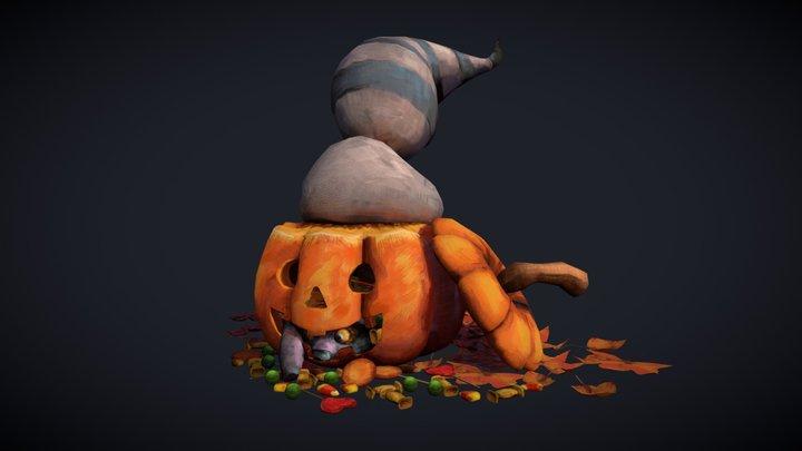Halloween Raccoon 3D Model