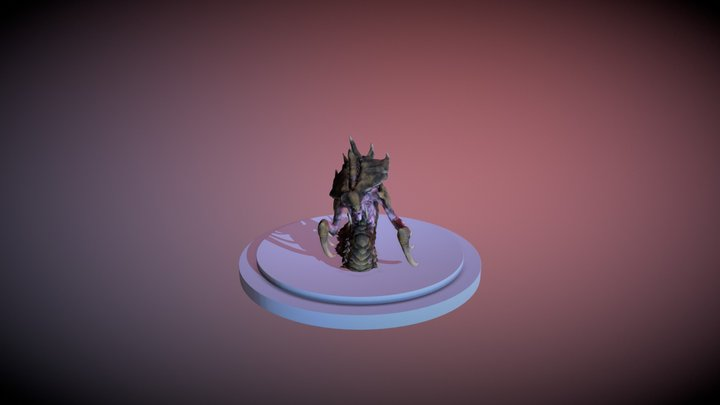 Hydralisk Idle Animation 3D Model