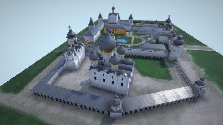 Rostov Kremlin (lowpoly) 3D Model