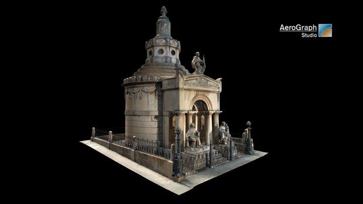 Pedreño family mausoleum, Cartagena, Spain 3D Model