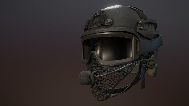PBR Tactical Helmet 3D Model