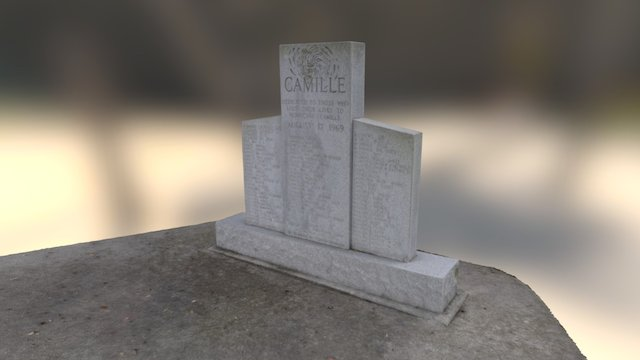 Pass Christian Hurricane Camille Memorial 3D Model