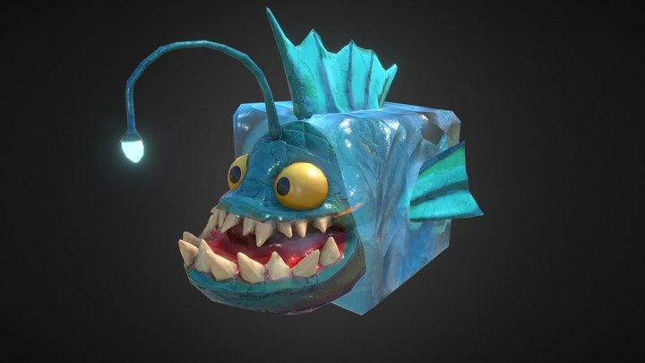 Spike the Angler Fish 3D Model