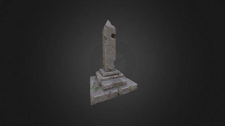 Rune Pillar 3D Model